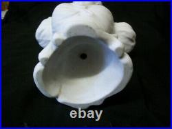 Buste D' Elegante Biscuit De Porcelaine Art Nouveau Signe J Berthoz
