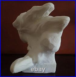 Buste époque Art-déco en marbre de Carrare