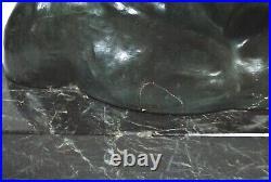 Buste statue homme plâtre patiné art déco 1930 signé J. Dommisse