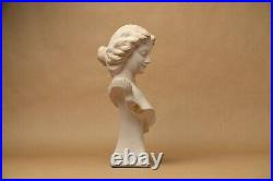 Buste statuette buste terre cuite ancien femme style art nouveau 1900 Le Guluche