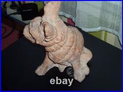 Chien Dog Terre Cuite Animalier 23 CM De Haut Art Deco Statue