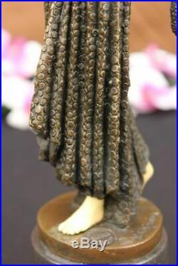 Chiparus Ventre Danseuse Bronze Marbre Sculpture Statue Figurine Fonte Art Solde