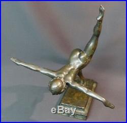 D 1930 belle Sculpture bronze Botinelly 37cm3.4kg Susse paris danseuse art déco