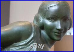 Fayral dit Le Faguays pour Max Le Verrier Danseuse art deco Grand modele