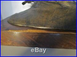 Grande STATUE SCULPTURE Bronze ANIMALIER ART DÉCO 1930 signé Francisque. 16Kg
