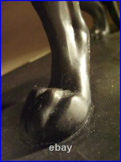 Grande panthère art déco en fonte dart signée M. Leducq sculpture statue 1930