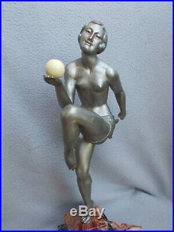 Jolie sculpture art deco 1930 statue femme danseuse BALLESTE statuette en regule