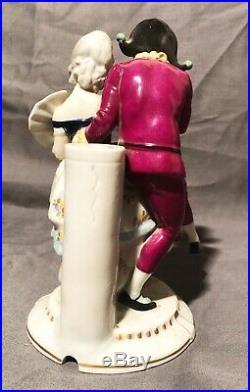 Katzhutte Pierrot&colombine Art Deco Porcelain Table Lamp Base