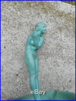 La Frileuse La Baigneuse Max Le Verrier Statue Sculpture Art Déco 1930