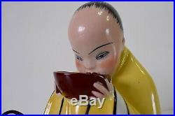 Lampe Brule Parfum Porcelaine Chinois Art Deco BECQUEREL ETLING Veilleuse XX