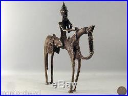 MALI! ARTS PREMIERS, cheval et cavalier Dogons, bronze, 22 cm