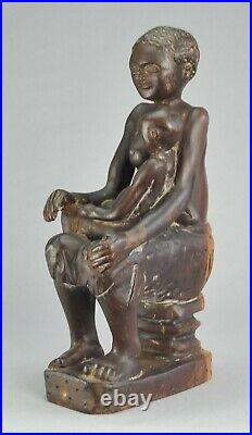 Maternite Statue En Bois Sculpture Congo Art Africain African Maternity
