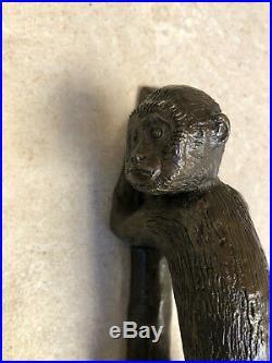 Poignée paire bronze porte singe design decoration maison art animalier