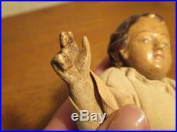 Rare et ancienne sculpture enfant jesus esoterisme art religieux christ noel