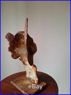 Régule/Buste Art déco dans son jus, Femme, Hauteur 29,5cm, Largeur 19cm