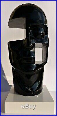 Rossini & Raminez(50cm-6kg)-Sculpture-Tête-Visage-Résine-Pop Art(Dali-Warhol)