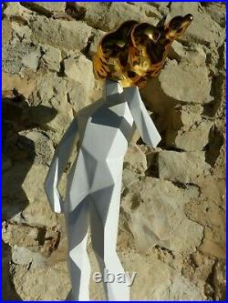 Rossini & Raminez (71cm-6kg)-Sculpture-Nu-Résine-Pop Art (Dali-Warhol-Orlinski)