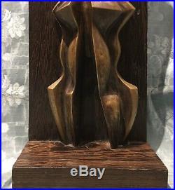 Sculpture Statue 20èm XXèm Cubisme Art Moderne Couple femmes ART EKANGA RDC rare