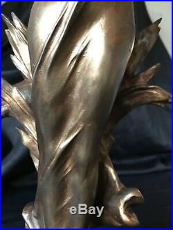 Sculpture Statue regule Patiné signée J Causse Fin XIX Art Nouveau 45 Cm 3,5 Kg
