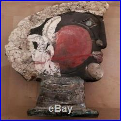 Sculpture Tete Gres Brita Spier (1945-2014) Art Brut Cobra Dlg Fassianos Picasso