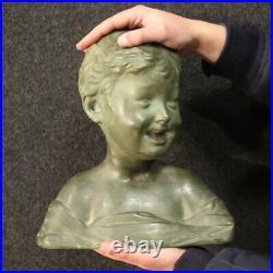 Sculpture buste d'enfant en terre cuite objet statue art style ancien 900