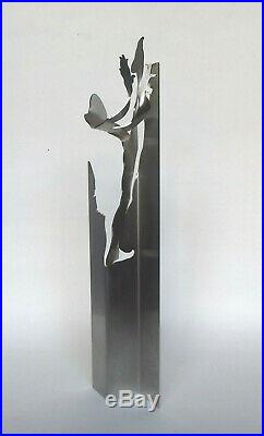 Sculpture homme Totem aluminium Yehiel Rabinowitz 2007 art contemporain Israël
