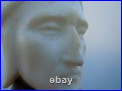 Sculpture marbre buste Dante Alighieri d'époque Art Nouveau vers 1920