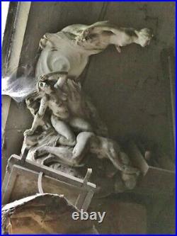 Sculpture statue Alfred Finot (1876-1947) Ecole de Nancy Art Nouveau Naïade 1900