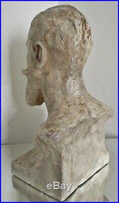 Sculpture statue Art Nouveau A. Finot Buste d'Eugène Corbin 1902 Ecole de Nancy