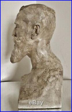 Sculpture statue Art Nouveau A. Finot à l'ami Eugène Corbin 1902 Ecole de Nancy