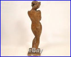Sculpture statue Art Nouveau, odalisque ou baigneuse, 19e
