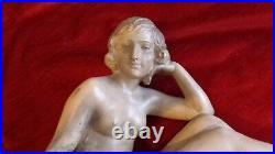 Sculpture statue art déco en terre cuite