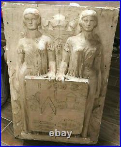 St Mandé GRAND Bas Relief Art Déco étude Bourdelle Vincennes