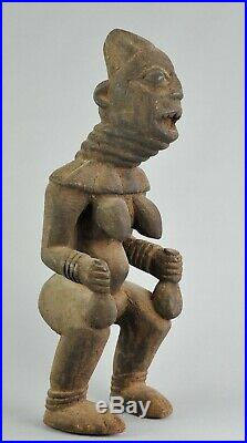 Statue 51cm Princesse BANGWA figure Cameroun African Art Tribal Sculpture
