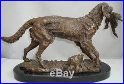 Statue Chien Chasse Style Art Deco Style Art Nouveau Bronze massif