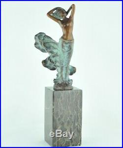 Statue Danseuse Nue Style Art Deco Style Art Nouveau Bronze massif