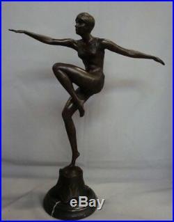 Statue Danseuse Sexy Style Art Deco Style Art Nouveau Bronze massif
