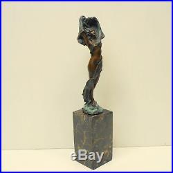Statue Danseuse Sexy Style Art Deco Style Art Nouveau Bronze massif Signe