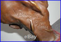 Statue En Bronze V Bruyneel Art Nouveau
