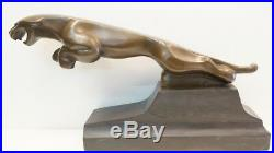 Statue Jaguar Animalier Style Art Deco Style Art Nouveau Bronze massif