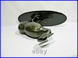 Statue Oiseau Cigogne Art Deco Sculpture Animaliere Stork Statue Storchstatue