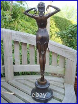 Statue Scarabee Sexy Style Art Deco Style Art Nouveau Bronze massif Signe