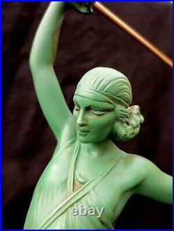 Statue Sculpture Art Déco Pierre Le Faguays LAmazone au Javelot 1925