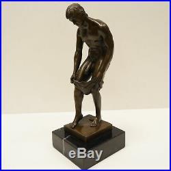 Statue Sculpture Athlete nu Sexy Style Art Deco Style Art Nouveau Bronze massif