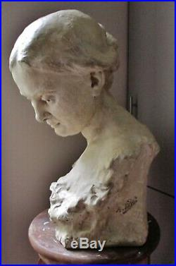 Statue Sculpture Femme 1900 Art Nouveau épreuve d'artiste unique Alfred Finot