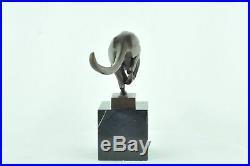 Statue Sculpture Guepard Animalier Style Art Deco Bronze massif Signe