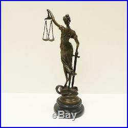 Statue Sculpture La justice Themis Style Art Deco Bronze massif