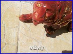 Statue Sculpture Lion En Céramique ART DECO