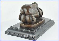 Statue Sculpture Nymphe Sexy Style Art Deco Bronze massif Signe