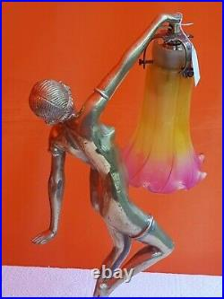 Statue bronze art deco